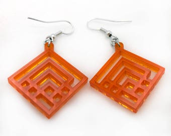 Squared Up Laser Cut Acrylic Earrings