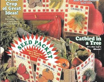 Plastic Canvas Magazine, Vegetables in Plastic Canvas, Christmas Projects, Cat in Plastic Canvas,  Bookmarks, Patterns for  Plastic Canvas