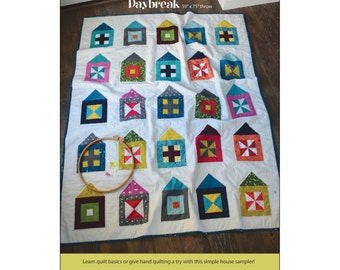 "Pattern ""Daybreak Quilt"" by Cabbage Rose (CAR196-DAY) Paper Pattern Pieced Quilt Houses"
