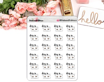 Sleep In Planner Stickers / Erin Condren / Happy Planner / Personal Planner