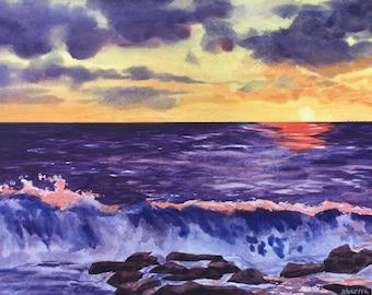 Morning View Original Watercolor