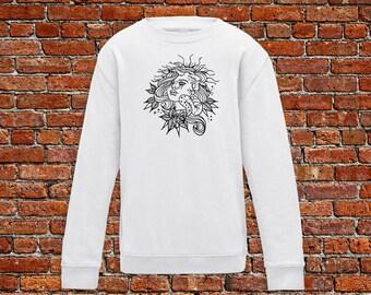 Medusa sweater, medusa tattoo, evil eye sweater, tattoo sweater, classic tattoo art, old school sweater, hipster gift, gift for tattoo lover