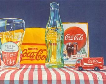 The Challenge - Coca Cola Art Print Coke Art Coke Print