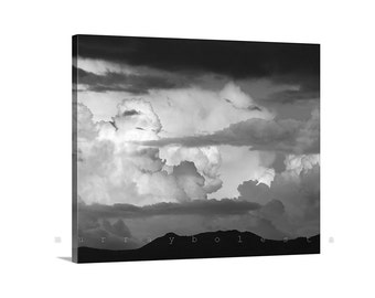 Storm Photography, Black and White, Thunderstorm Art, Wall Art, Arizona Monsoon, Cloud Photography, Sky Panorama, Storm Clouds Art