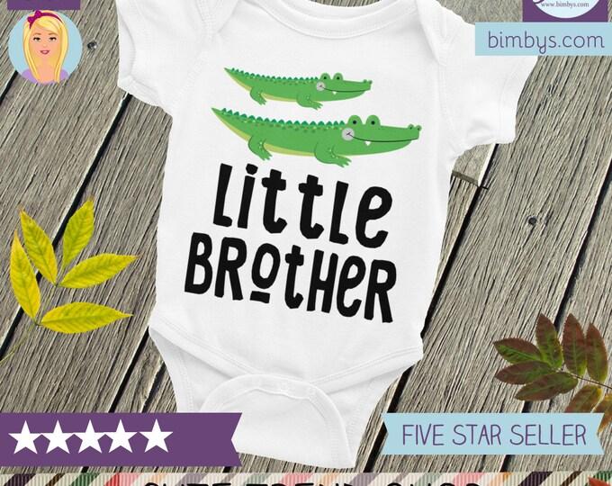 Little Brother Onesie ® ,Alligator Sibling Shirt, Little Brother Shirt, Brother Shirts, Little Bro, Baby Brother, Brother Shirt, Brothers