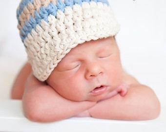 Newborn Baby Boy Hat Newborn Baby Hat Ecru Baby Hat Baby Boy Clothes Baby Boy Cap Light Blue Khaki Baby Cap Photo Prop Baby Boy Gift