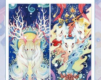 Washi Tape Mythical Animals, Fantasy Animals, Folklore, Fantasy Creatures