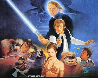 Star Wars Return of The Jedi 1983 Vintage Movie Poster 4 Sizes