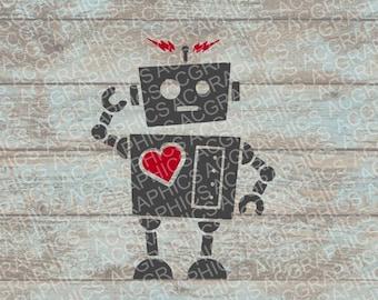 Valentine Robot SVG, DXF, JPEG, And Studio Downloads