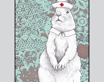 Prairie Dog Nurse Card