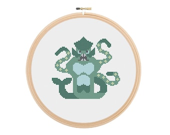 ye gods! it's the kraken - modern cross stitch pattern PDF