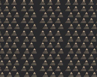 Art Gallery Fabrics//Commute by Limo//Premium Quilting Cotton//100% Cotton Fabric//Black and Tan  Cotton//Gramercy//Amanda