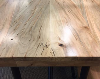 Ambrosia Maple Slab Countertop Tabletop Reclaimed Salvaged Maple Table Bar Desk Hairpin Leg DIY Butcher Block Island Walnut Oak Table