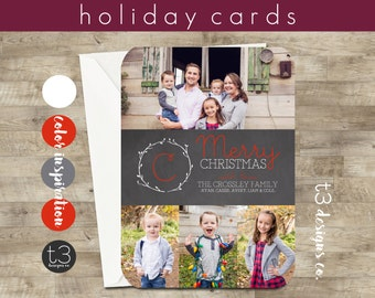 Multiple Photo Christmas Card, holiday card, Christmas card, family photo card, Holiday cards,Christmas card, photo holiday card