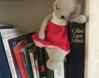 Crochet mouse with fabric dress, Amigurumi mouse crochet,Stuffed Animal,Baby Gift,Crochet Toys,Soft Toy,Gift Ideas,Birthday gift,mouse dress