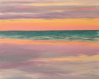 Sonnenuntergang in der Kabel-Sandstrand-Broome-WA