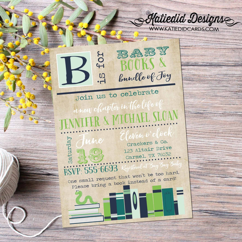 storybook surprise gender reveal rustic baby boy shower invitation ...