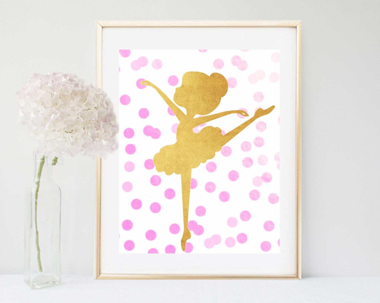 Ballet print printable art ballerina print ballet art for Ballerina wall mural