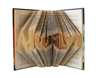 Harry Potter Always, Folded Book Art, Harry Potter Gift, Harry Potter Fan, Harry Potter art, Harry Potter Gifts for her Harry Potter Wedding