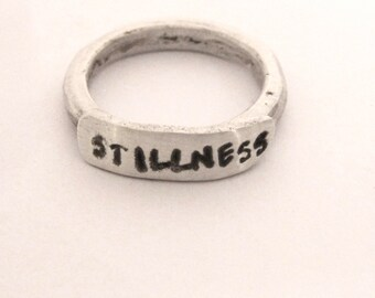 Recycled Sterling Stamped Ring