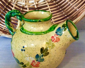 Charming French Country Cruche à Vin: Small Wine Pitcher, Jug, Petit Pitchet,