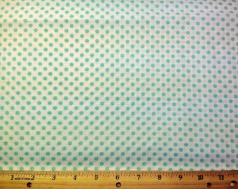 Seafoam Green Pook-a-dot Fabric