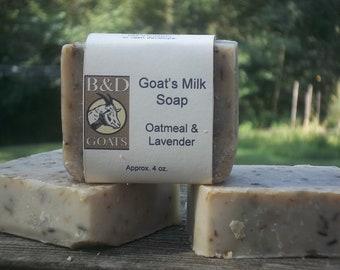 Oatmeal & Lavender Goat's Milk Soap