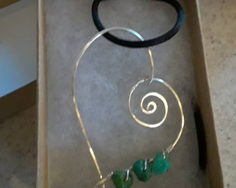 Spiral Heart with Turquoise