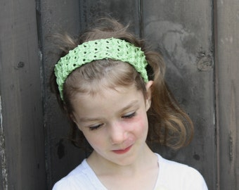 Broomstick Lace Headband PATTERN, 6 months to adult sizes, sweet headband to crochet for girls or women, digital download
