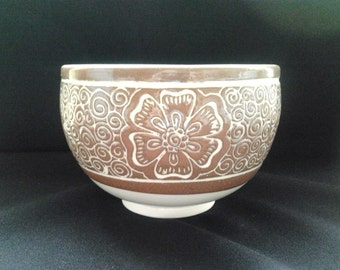 Bowl with Henna design