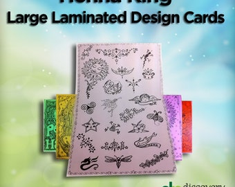 8 Laminated Posters of Henna Tattoo Designs
