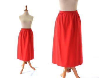 Pendleton skirt, red skirt, wool skirt, vintage skirt, womens skirt, vintage clothing, women's clothing