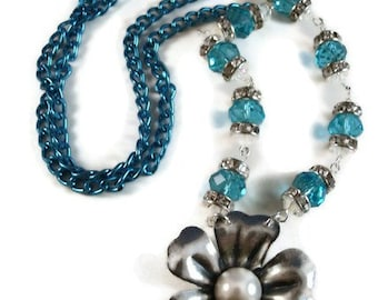 Spring Blues Necklace
