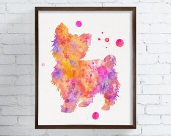 Yorkshire Terrier Art - Yorkshire Terrier Print - Watercolor Yorkshire Terrier - Watercolor Dog - Dog Wall Art - Dog Lover Gift, Yorkie Art