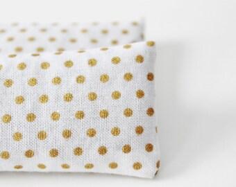 Organic Lavender Pillow Sachets, White & Gold Dot Sleep Sachets for Travel, Herbal Sleep Gifts for Mom