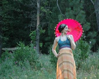 Wrap / Skirt / Indian / Cotton / 70s / Boho / Festival / Summer / Hippie / Ethnic / Maxi / Boho Clothing For Women