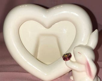 Porcelain Avon Bunny Picture Frame