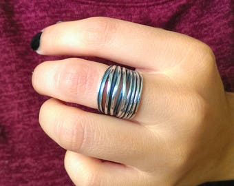 clearance market rings free il ring stackable gypsy boho nickel etsy wedding oxidize bali