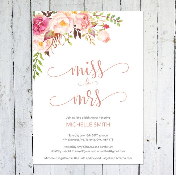 Bridal shower invitation miss to mrs boho bridal shower like this item stopboris