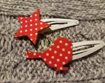 Bird and Star Barretts