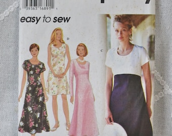 Simplicity 9675 Sewing Pattern Misses Dress Size 12 14 16 DIY Fashion Sewing Crafts PanchosPorch
