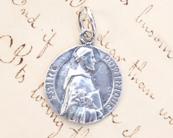 St Dominic Medal - Patron of astrologers - Sterling Silver Antique Replica
