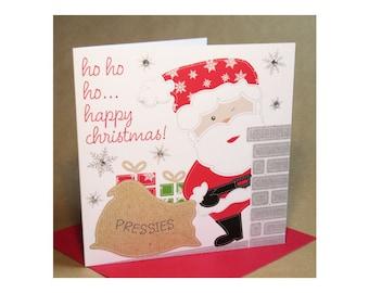 Christmas Santa Card  (jewelled)