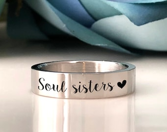 Soul sisters Ring/Custom Personalized Engraved ring/engraving inside sold separately/engraving inside sold separately