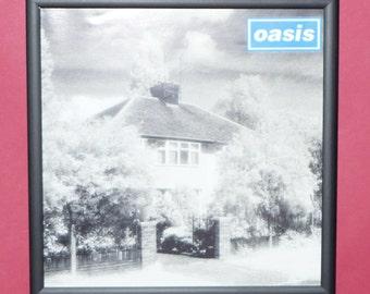 Oasis 7 inch framed music memorabilia artwork Live forever