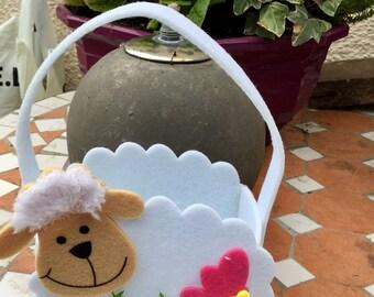 Easter bag for children sheep theme