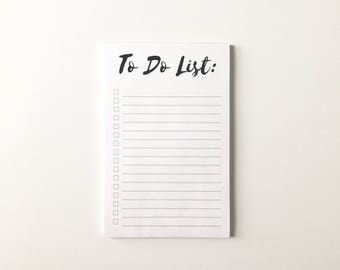To Do List, Notepad, To-Do List Notepad, Desk Pad, List Pad, Daily Planner, Day Planner, Checklist, Agenda, List, Minimalist, PHYSICAL PRINT