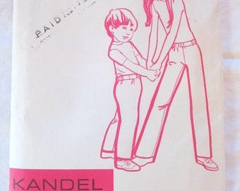 vintage KANDEL KNITS sewing pattern no. 38-- Jack n Jill Pant, size 2-12