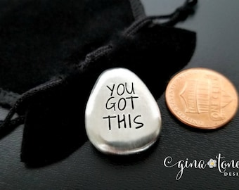 You Got This Pocket Coin, Encouragement Gift, Chemo Gift, Divorce Gift, Addiction Recovery, Inspirational Pocket Token,Cancer Gift,Sobriety
