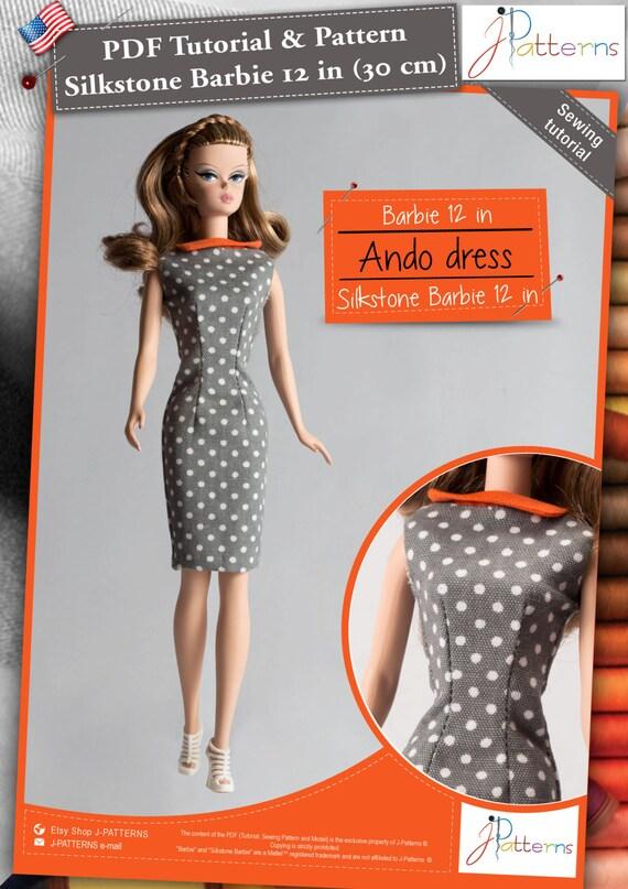 5.EN Patron Robe Barbie et Barbie Silkstone 30 cm Version